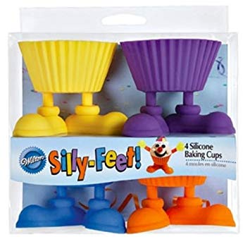 CUPCAKE BAKING CUPS - SILICONE - SILLY FEET