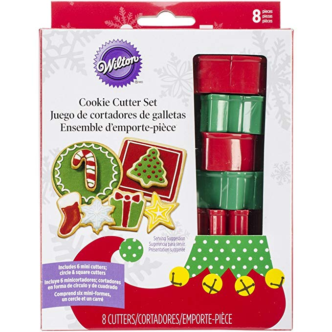 COOKIE CUTTER - CHRISTMAS - ELF COOKIE SET - 8 PIECES