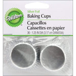CUPCAKE PAPERS - FOIL - MINI - SILVER