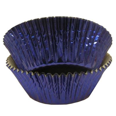 CUPCAKE PAPERS - FOIL - STANDARD - BLUE