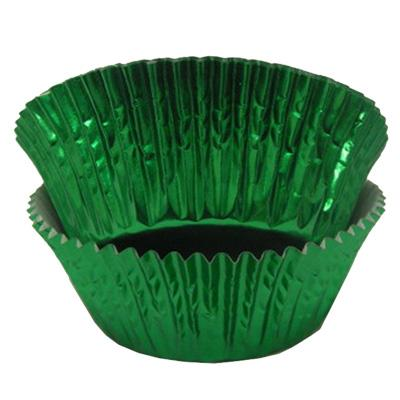 CUPCAKE PAPERS - FOIL - STANDARD - GREEN
