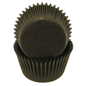 CUPCAKE PAPERS - GLASSINE - BLACK - 23 PC