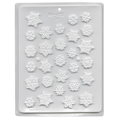 MOLDS - HARD CANDY - SNOW FLAKES - ASSORTED