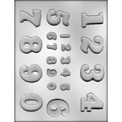 MOLDS - LETTERS/NUMBERS - NUMBERS - ASSORTED SIZE