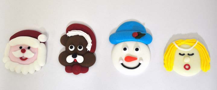 ROYAL ICING - CHRISTMAS - HEADS