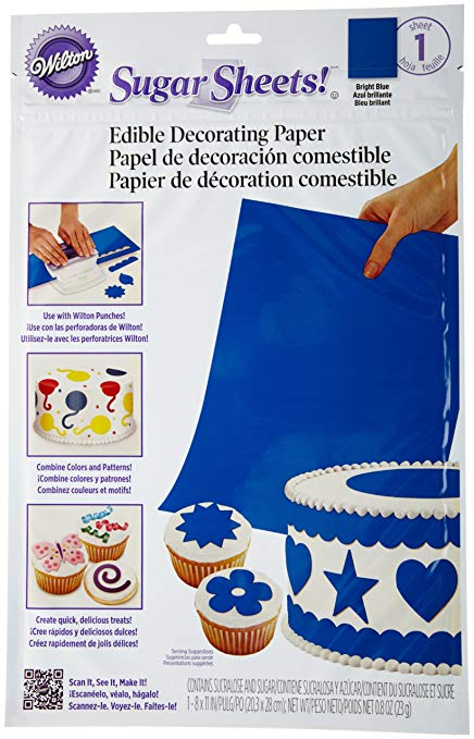 SUGAR SHEETS - BRIGHT BLUE
