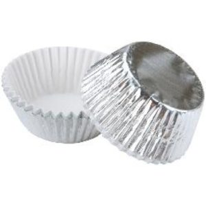 CUPCAKE PAPERS - FOIL - STANDARD - SILVER