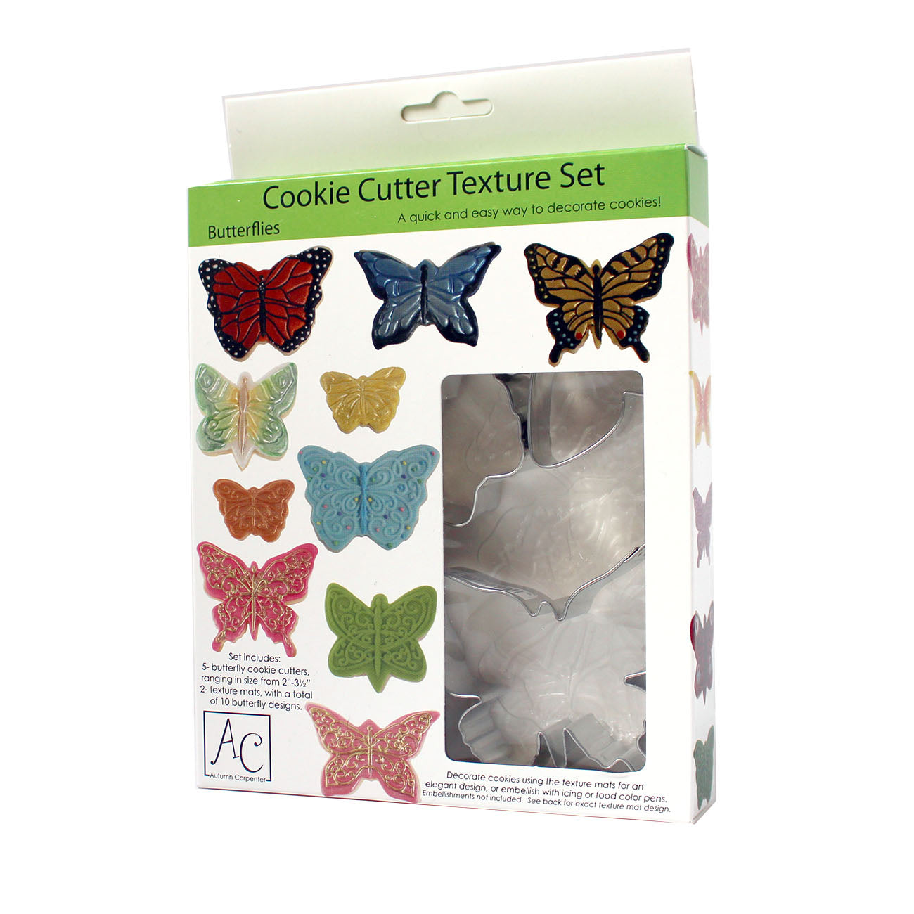 COOKIE CUTTER - ANIMAL - TEXTURE SET - BUTTERFLY