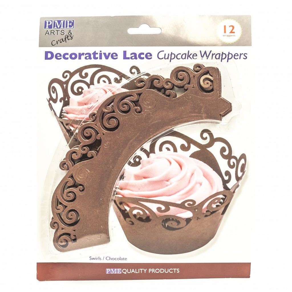 CUPCAKE WRAPPERS - CHOCOLATE SWIRL