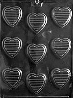 MOLDS - VALENTINES - LINED HEART