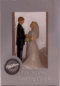 WEDDING TOPPERS - WITH THIS RING COUPLE CAKE TOPPER