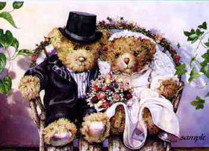 "WEDDING TOPPERS - BERRY BEARS ""FOREVER YOURS"""