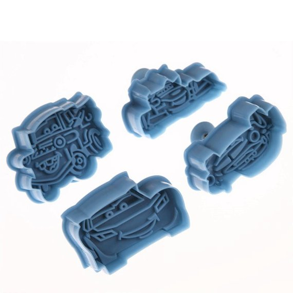 COOKIE CUTTER - KIDS - DISNEY CARS PLUNGER SET