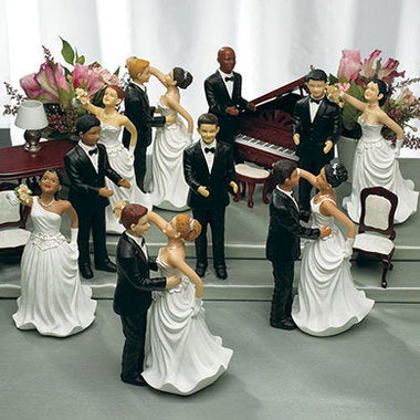 WEDDING TOPPERS - RED HAIR CAUCASIAN BRIDE