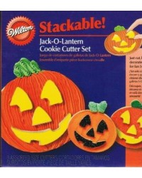 COOKIE CUTTER - HALLOWEEN - STACKABLE - JACK-O-LANTERN SET