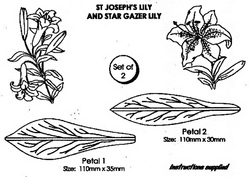 CUTTER - ST JOSEPH AND STAR GAZER LILY
