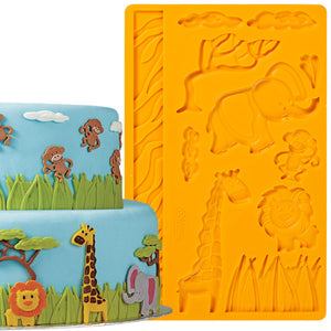 FONDANT/GUMPASTE MOLD - JUNGLE ANIMALS