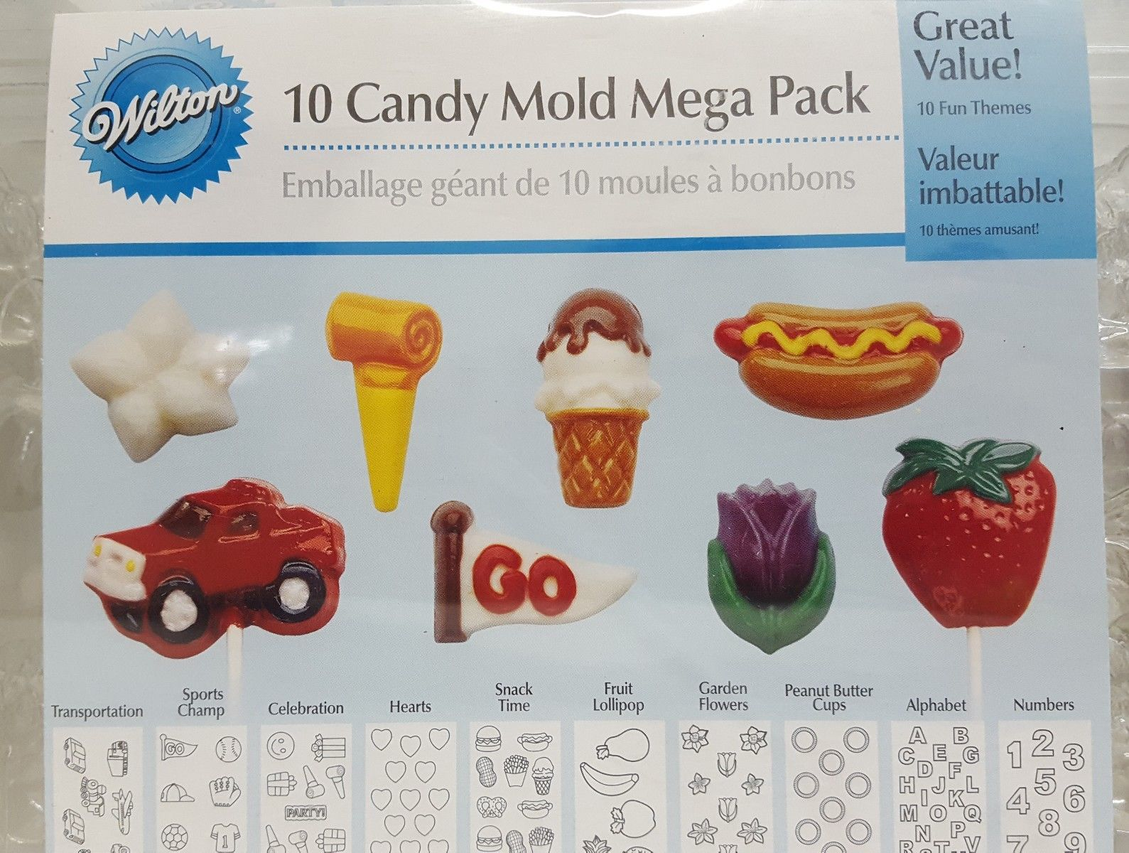 MOLDS - WILTON - 10 CANDY MOLDS MEGA PACK