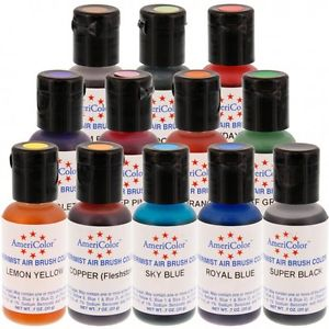 AMERICOLOR - AIR BRUSH - 12 COLOUR KIT