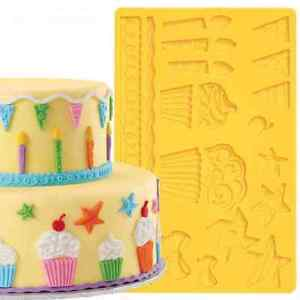 FONDANT & GUMPASTE MOLD - KIDS PARTY