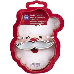 COOKIE CUTTER - CHRISTMAS - 2 PC SANTA HEAD
