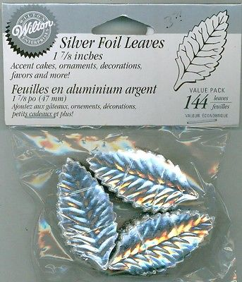 LEAVES - SILVER - 1 7/8""
