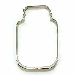 COOKIE CUTTER - MISC - MASON JAR - 4""