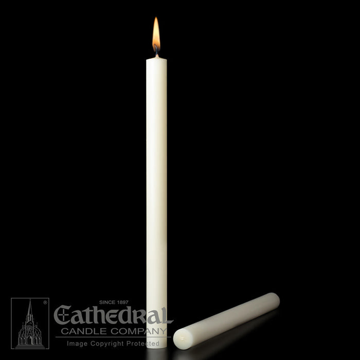 7/8 INCH   ALTAR CANDLES - 51% BEESWAX