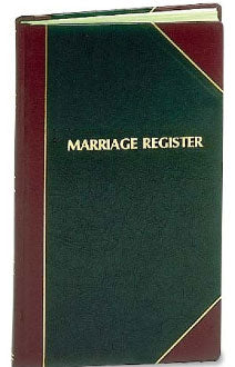 MARRIAGE RECORD BOOK / REGISTER # 101