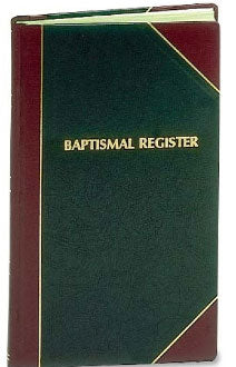BAPTISMAL RECORD BOOK / REGISTER # 103