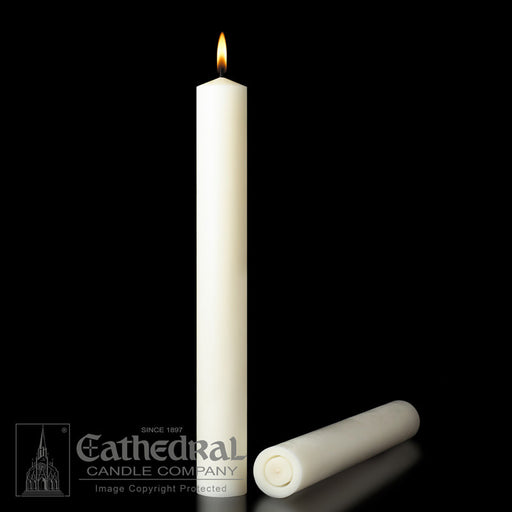 1-1/4 INCH   ALTAR CANDLES - 51% BEESWAX