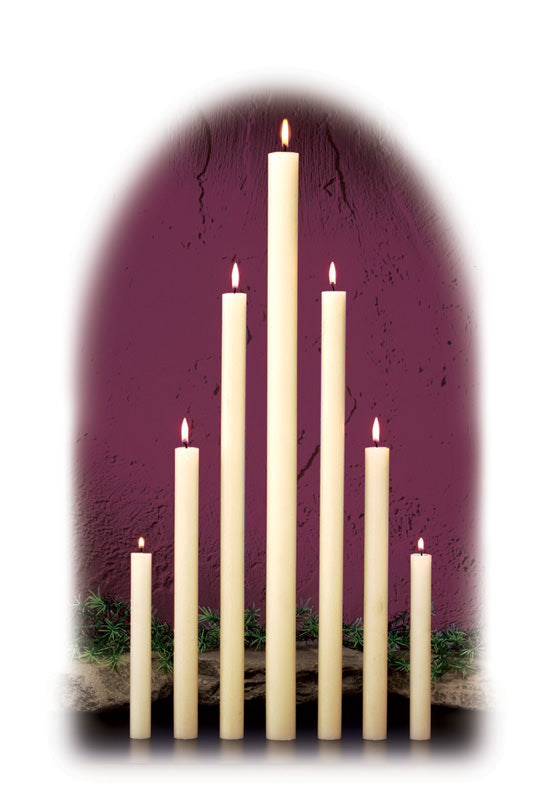 7/8 INCH  ALTAR CANDLES - 100% BEESWAX