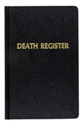 DEATH RECORD BOOK / REGISTER # 192