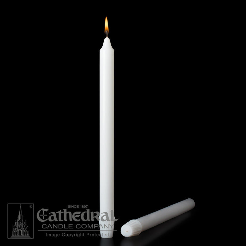 13/16 INCH  DIAMETER ALTAR CANDLES - STEARINE WAX