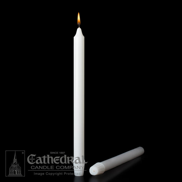 7/8 INCH  DIAMETER ALTAR CANDLES - STEARINE WAX