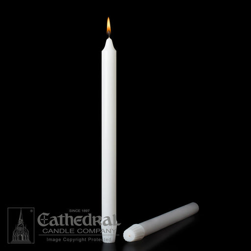 1-1/8 INCH  DIAMETER ALTAR CANDLES - STEARINE WAX