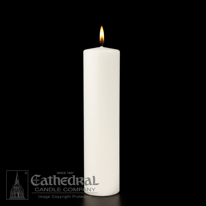 CHRIST CANDLE - CEREMONIAL PILLAR - WHITE