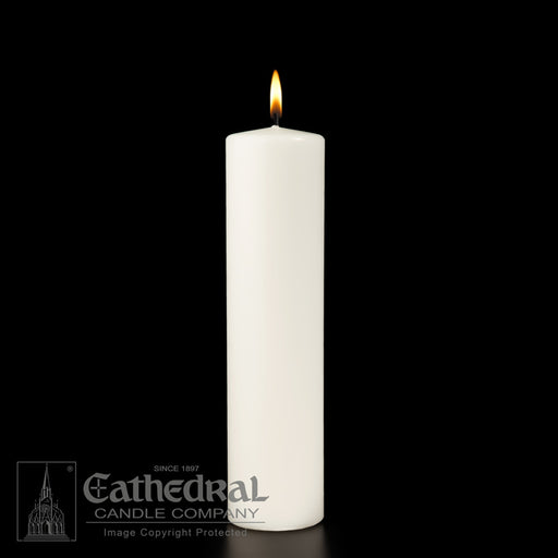 2 INCH  DIAMETER ALTAR CANDLES - STEARINE WAX