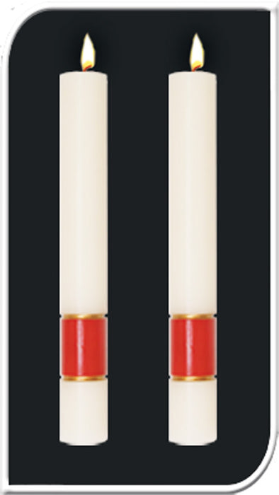 GLORIA WHITE PASCHAL CANDLE / COMPLEMENTING ALTAR CANDLES