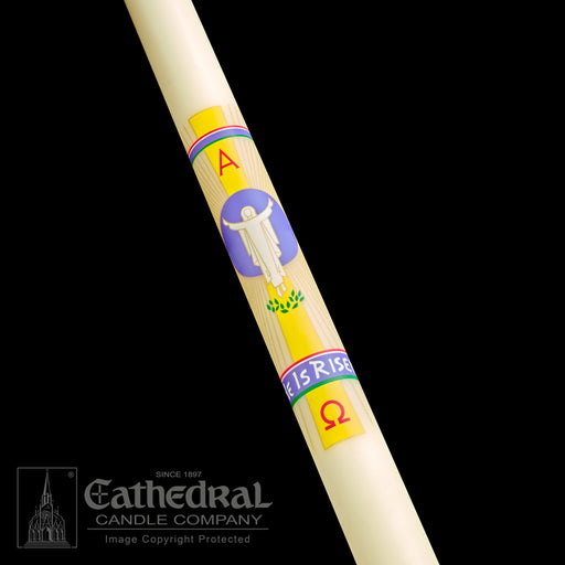 HE IS RISEN PASCHAL CANDLE
