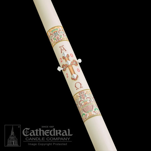 INVESTITURE - CORONATION OF CHRIST PASCHAL CANDLE / COMPLEMENTING ALTAR CANDLES