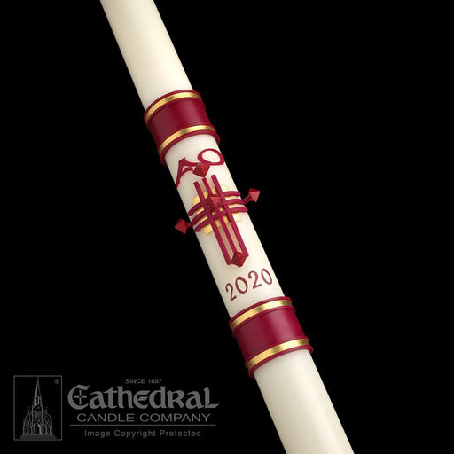 CRUX TRINITAS PASCHAL CANDLE / COMPLEMENTING ALTAR CANDLES
