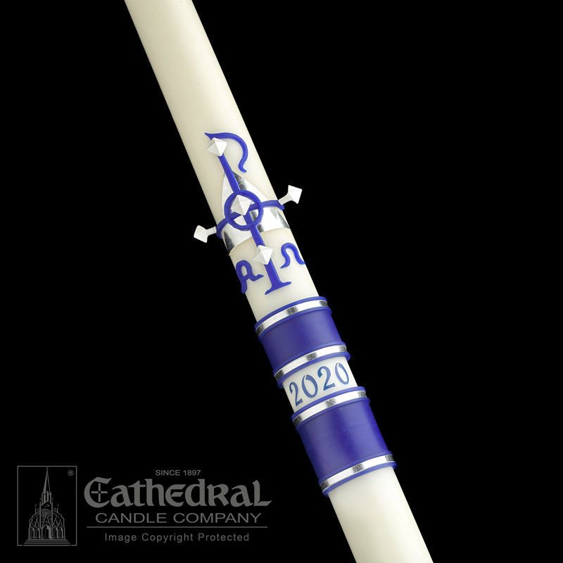 MESSIAH PASCHAL CANDLE / COMPLEMENTING ALTAR CANDLES