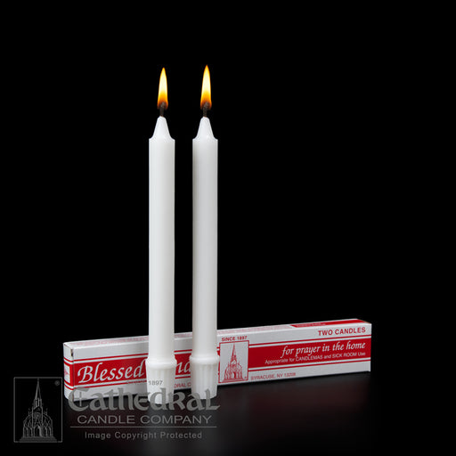 CANDLEMAS 25/32 INCH  X 8-1/4 INCH   SELF FITTING END - STEARINE WAX