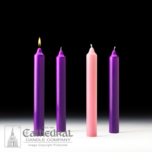 ADVENT CANDLES - 1-1/2 INCH  X 12 INCH  - STEARINE WAX