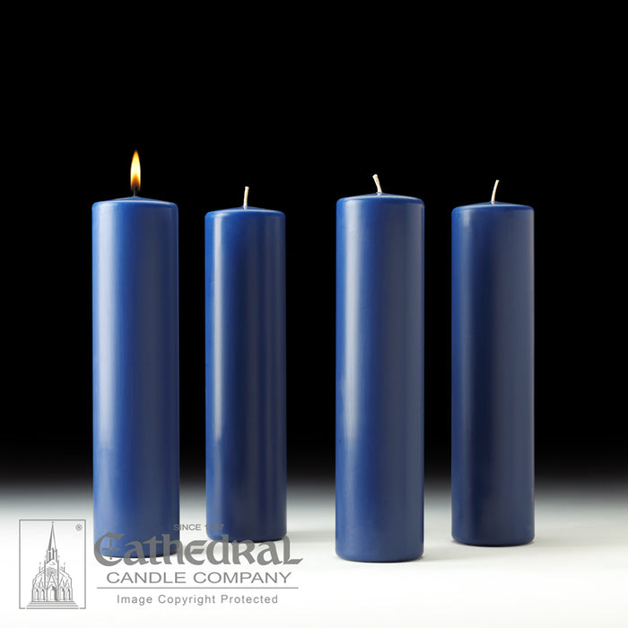 ADVENT PILLAR CANDLES - 3 INCH  x 12 INCH  STEARINE