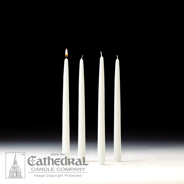 ADVENT TAPERS FOR THE HOME - 7/8 INCH  X 12 INCH  TAPERED