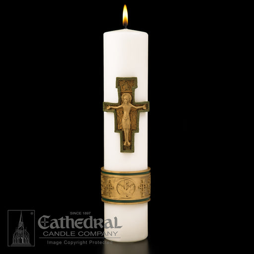CHRIST CANDLE - CROSS OF ST. FRANCIS