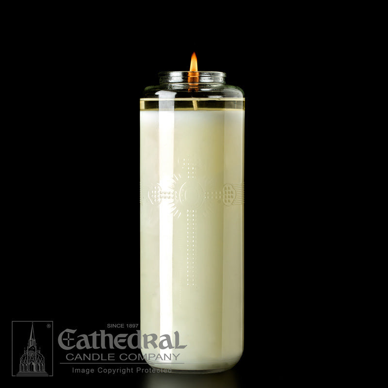 8 DAY BOTTLE STYLE SANCTUARY CANDLE  - DOMUS CHRISTI - 51% BEESWAX