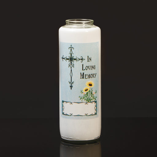 All Soul's Day - In Loving Memory - 6 day candle